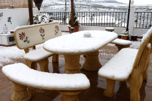 No sitting out on the terrace today!
